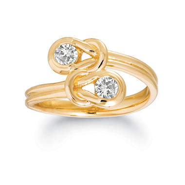 .75 ct. t.w. Everlon? Diamond Twin-Knot Ring in 14K Yellow Gold (I, I1)