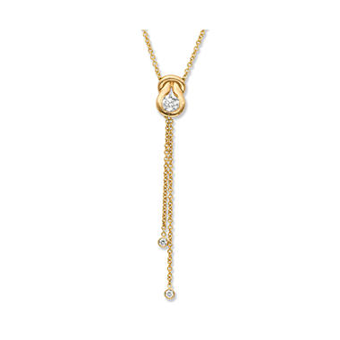 0.60 ct. t.w. Everlon? Diamond Lariat Pendant in 14K Yellow Gold (I, I1)