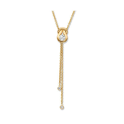 0.60 ct. t.w. Everlon™ Diamond Lariat Pendant in 14K Yellow Gold (I, I1)