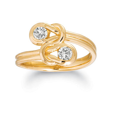 1 ct. t.w. Everlon? Diamond Twin Knot Ring in Yellow Gold (I, I1)