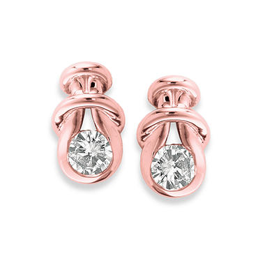 .30 ct. t.w. Everlon? Diamond Knot Earrings in 14K Rose Gold (I, I1)