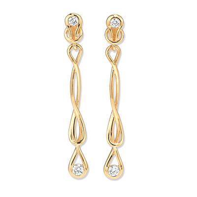 1 ct. t.w. Everlon™ Diamond Drop Earrings in Yellow Gold (I, I1)