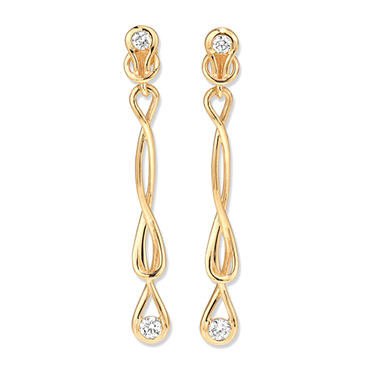 1 ct. t.w. Everlon? Diamond Drop Earrings in Yellow Gold (I, I1)