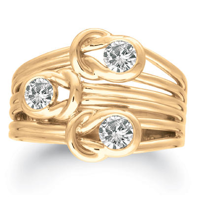 .75 ct. t.w. Everlon™ Three-Stone Diamond Ring (I, I1)