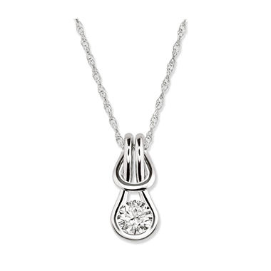 0.75 ct. Everlon? Diamond Solitaire Pendant in 14K White Gold (I, I1)