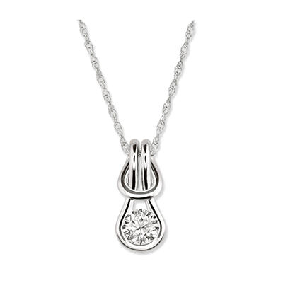 0.75 ct. Everlon™ Diamond Solitaire Pendant in 14K White Gold (I, I1)