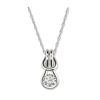 0.25 ct. Everlon™ Diamond Solitaire Pendant (I, I1)