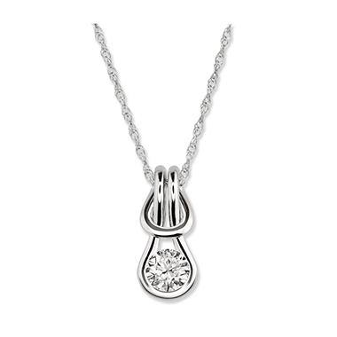 0.25 ct. Everlon™ Diamond Solitaire Pendant (I, I1)