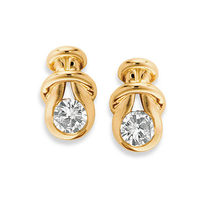 .30 ct. t.w. Everlon™ Diamond Knot Earrings in 14K Yellow Gold (I,I1)