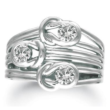 .50 ct. t.w. Everlon™ 3-Stone Diamond Ring in 14K White Gold (I,I1)