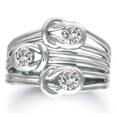 .50 ct. t.w. Everlon™ 3-Stone Diamond Ring in 14K White Gold (I,I1)
