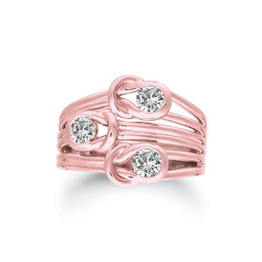 .50 ct. t.w. Everlon™ 3-Stone Diamond Ring in 14K Rose Gold (I, I1)
