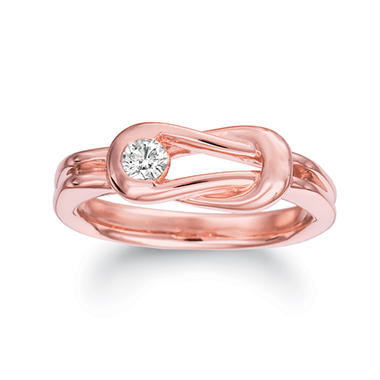 .30 ct. Everlon™ Men's Diamond Ring in 14K Rose Gold (I, I1)