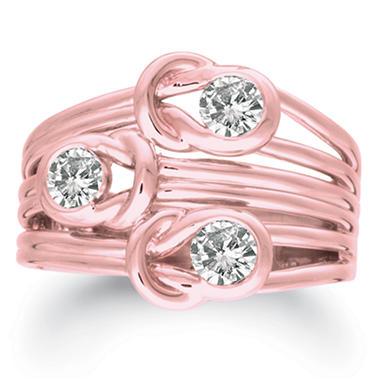 .75 ct. t.w. Everlon™ 3-Stone Diamond Ring in 14K Rose Gold (I, I1)