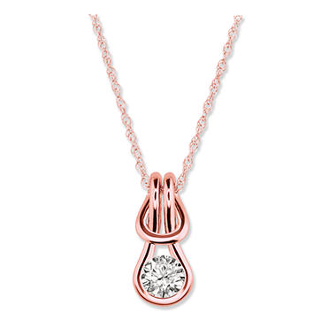 0.50 ct. Everlon™ Diamond Solitaire Pendant in 14K Rose Gold (I, I1)