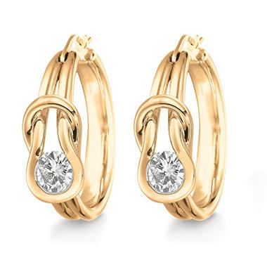 .30 ct. t.w. Everlon™ Diamond Curve Earrings in 14K Yellow Gold (I,I1)