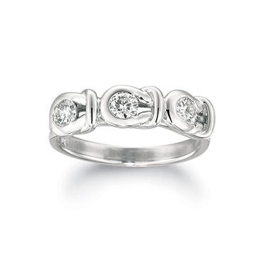 .75 ct. t.w. Everlon™ 3-Stone Diamond Ring in White Gold (I, I1)