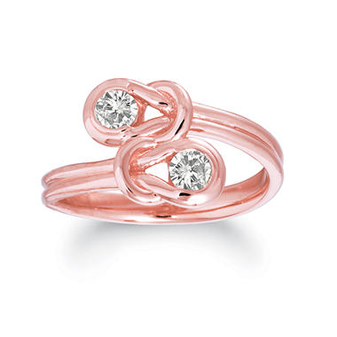 .75 ct. t.w. Everlon™ Twin Knot Diamond Ring in 14K Rose Gold (I, I1)