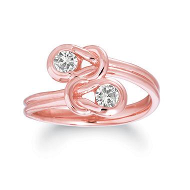 .75 ct. t.w. Everlon™ Twin Knot Diamond Ring in 14K Rose Gold (I, I1)