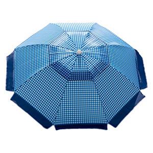 Blue Gingham Beach Umbrella