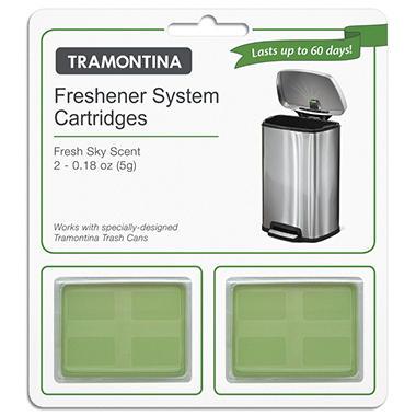 Tramontina - Step Can Freshener System Cartridges 2 Pack - Fresh Sky