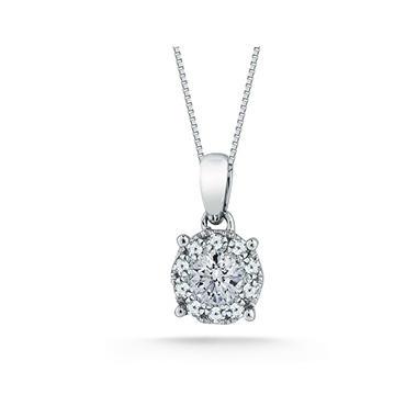0.50 CT. T.W. Unity Diamond Solitaire Plus Pendant  I, I1 (IGI Appraisal Value: $1,110.00)