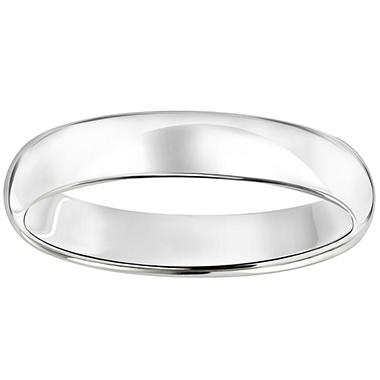 14K White Gold 4mm Wedding Band