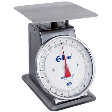 Edlund 25 lbs. x 1 oz. Heavy Duty Stainless Scale