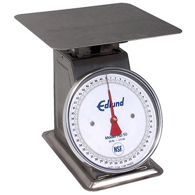 Edlund 50 lbs. x 2 oz. Heavy Duty Stainless Scale