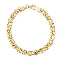 Italian Byzantine Bracelet in 14K Yellow Gold (IGI Appraisal Value: $655)