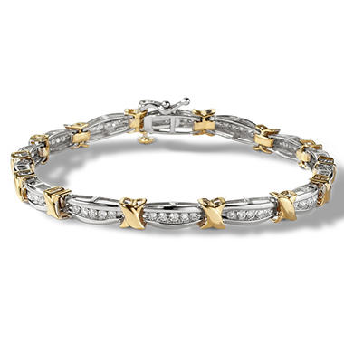 1.00 CT. TW. Diamond Fashion Bracelet in 14K Two-Tone Gold