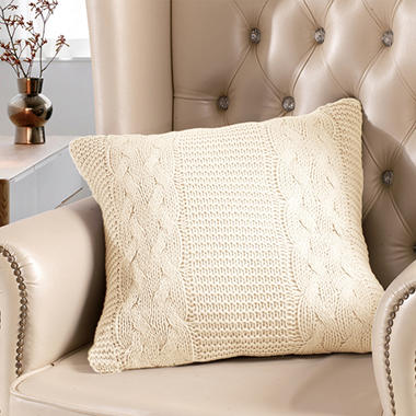 Cable Knit Pillow - Various Colors