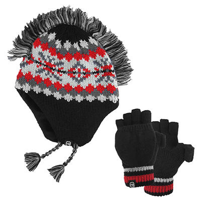 Boys Free Country® Mohawk Hat/Pop-Top Knit Set