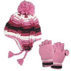 Girls Free Country® Peruvian Hat/Pop-Top Knit Set