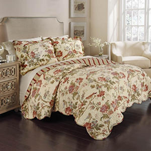 Charleston Chirp 3 Piece Reversible Quilt Set