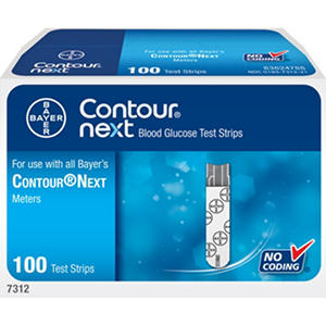 Bayer Contour Next Blood Glucose Test Strips - 100 ct.