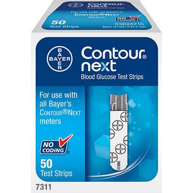 Bayer Contour Next Blood Glucose Test Strips - 50 ct.