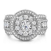 2.70 ct. t.w. Regal Engagement Ring in 14K White Gold (I, I1)