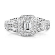 0.95 ct. t.w. Regal Engagement Ring in 14K White Gold (SI-I, I1)