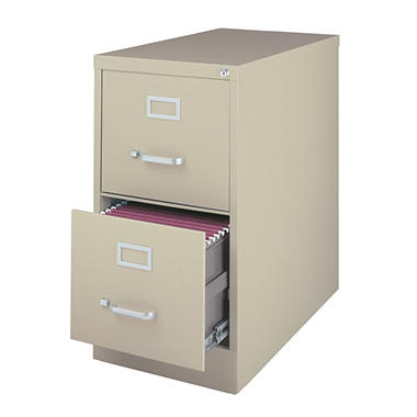 "Hirsh - 2-Drawer Letter File Cabinet  25"" - Putty"