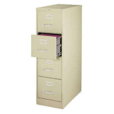 "Hirsh - 4-Drawer Letter File Cabinet 25"" - Putty"