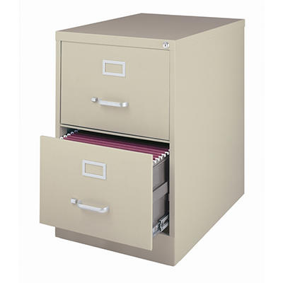 "Hirsh - 2-Drawer Legal File Cabinet 25"" - Putty"