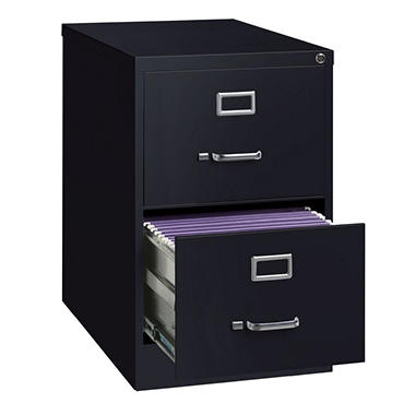 "Hirsh - 2-Drawer Legal File Cabinet 25"" - Black"