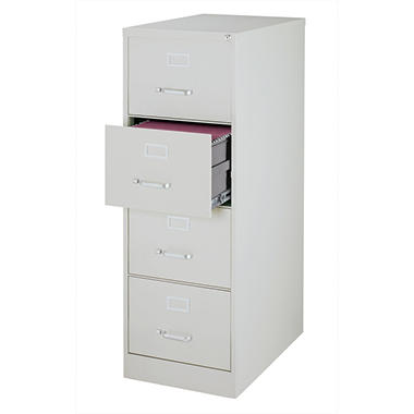 "OFFLINE Hirsh - 4-Drawer Legal File Cabinet 25"" - Gray"