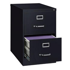"Hirsh 26 ½"" 2-Drawer Legal File Cabinet, Select Color"