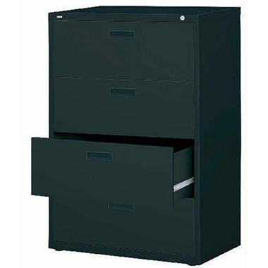 """Hirsh 30"""" 4-Drawer Lateral File Cabinet, Select Color"""