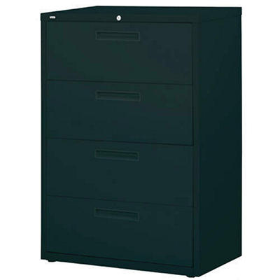 "Hirsh - Lateral File Cabinet, 4-Drawer, 36"" Width - Black"