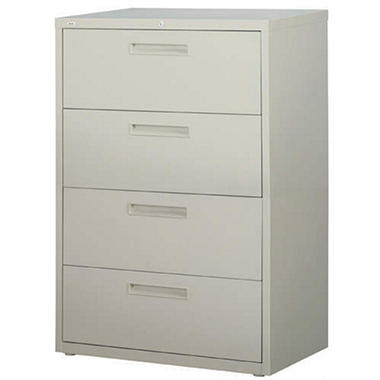 "Hirsh - 4-Drawer Lateral File Cabinet 36"" - Gray"