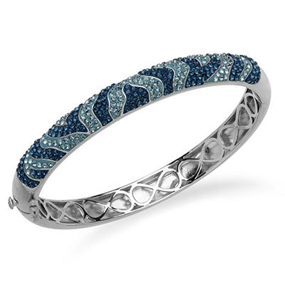 Swarovski Two-Tone Blue Crystal Bracelet in Sterling Silver