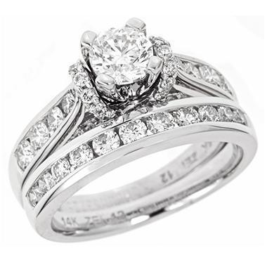 1.50 ct. t.w. Regal Elegance Diamond Bridal Set in 14k White Gold (I, SI2)